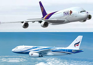 Thai Airways et Bangkok Airways partagent leurs codes
