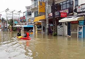 Pluies torrentielles à Koh Samui