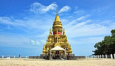 La pagode de Laem Sor et le Khao Chedi